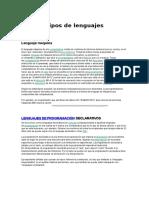 Tipos de Lenguaje y Programa Objeto