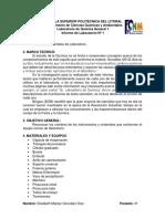 (Informe 1) Técnicas Elementales de Laboratorio
