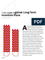 The Case Against Long-Term Incentive Pay