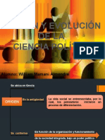 origenyevoluciondecienciapolitica-120930150427-phpapp01