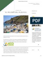 El Peligro Del Plástico _ Eco Proyecto