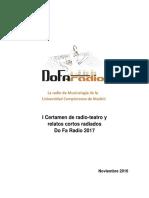 Bases Concurso de Radio-Teatro - Relato Corto