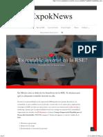¿Es Rentable Invertir en La RSE_ – ExpokNews