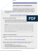 Prediccion de Estructura de Proteinas