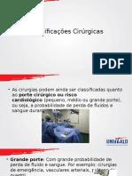 Aula Classificações Cirúrgicas