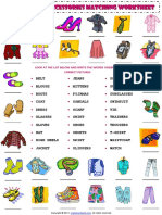 clothes and accessories vocabulary matching exercise worksheet 1.pdf