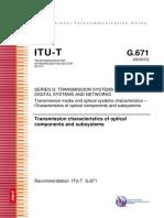 T-REC-G.671-201202-Características de Transmisión de Los Componentes y Subsistemas Ópticos