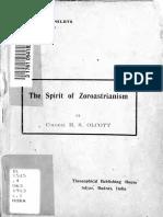 Adyar Pamphlet No.23. the Spirit of Zoroastrianism by Colonel h.s. Olcott