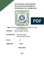 Tipos de Planeamiento Operativo y Plan de Contingencia