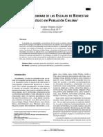 2013 Análisis Preliminar de Las Escalas de Bienestar Psicológico en Población Chilena