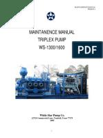 Manual Triplex Pump