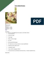 Broccoli Grape Pasta Salad Recipe