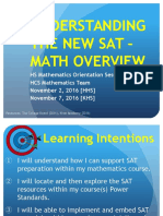Understanding the New SAT-HS Math Overview 1116
