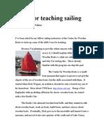 Drills for Teaching Sailing