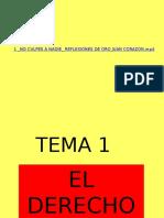 Tema 1 El Derecho