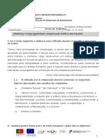 Ficha de Trabalho Cidadania