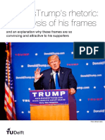 Donald Trump's Rhetoric - An Analysis of His Frames