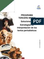 Solucionario CLASE 24 TERCERO MEDIO Guía Estrategias de Interpretación de Los Textos Periodísticos 2015