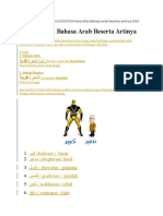 54 Kata Sifat Bahasa Arab Beserta Artinya