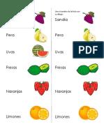 Une El Nombre de La Fruta Con Su Dibujo
