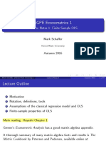 SGPE Econometrics Lecture 1 OLS