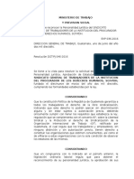 Publicacion Autorizacion Inscripcion de Sindicato