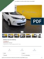 Renault Zoe Zen r240 Eléctrico _ Híbrido Blanco Del 2015 Con 304km en Alicante 32340217