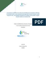 Análisis de Viabilidad Técnica Financiera y de Negocios WL Desalación