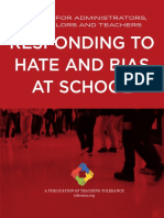Teaching Tolerance - Responding to Hate at School