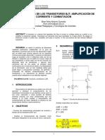 Informe de transistores