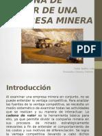 Cadena de Valor de Una Empresa Minera