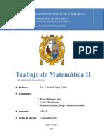 Trabajo de Matemática II