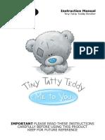 Tiny Tatty Teddy Stroller Instruction Manual Advice