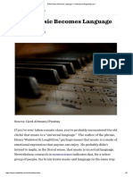 When Music Becomes Language — Www.psychologytoday