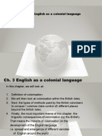 Ch. 3 English as a Colonial Language 19 Sept