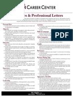 Resume Writing Brochure Fall 2009