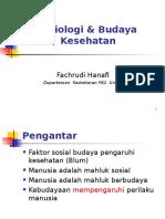 Sosiologi & Budaya Kesehatan (Dr. Fahcrudi)