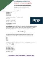 Lista de Exercícios Função Logarítmica e Exponencial