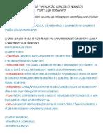 Questionário 1ª AP Concreto Iword