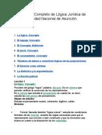 Programa Completo de Lógica Jurídica de La Universidad Nacional de Asunción
