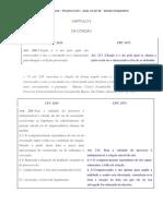 Aula - Processo Civil - i - Capítulo II - Citação Ncpc