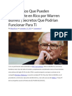 10 Consejos Que Pueden Convertirte en Rico Por Warren Buffett