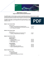 INSEAD Master in Finance Curriculum PDF