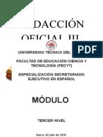 Módulo Redacción Oficial III