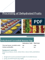 Processing of Dehydrated Fruits