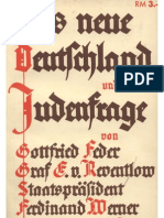 Feder, Gottfried Und Andere - Das Neue Deutschland Und Die Judenfrage (1933, 225 S., Scan, Fraktur)