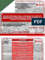 Propuesta Metodologica Consolidacion Del Proceso Implantacion Del Sistema Integrado Gestion Riesgos