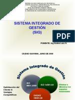 Sistema Integrado Gestion Sig Powerpoint