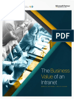 Bonzai Whitepaper the Business Value of an Intranet