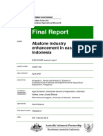 Abalone Industry Enhancement in Eastern Indonesia
